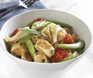 Good Taste, Good Health: Chicken Stir-Fry over Angel Hair Pasta